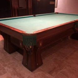 Antique Brunswick Arcade Pool Table
