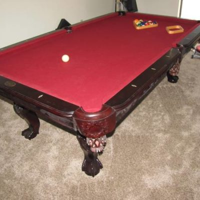 DLT Cherry Wood Pool Table
