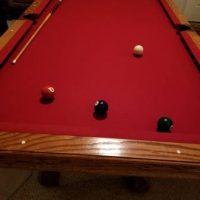 Beautiful Solid Oak Genuine Slate Brunswick 7Ft Pool Table