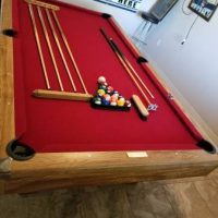 8ft Brunswick Contender Slate Pool Table